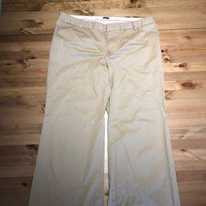 Pants - GAP khaki wide leg dress pants